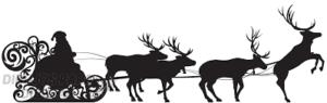 cara de reno navideño