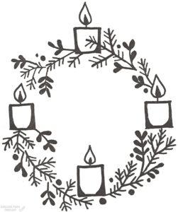 como decorar una corona de adviento scaled