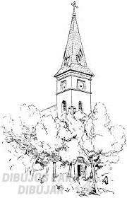 como se dibuja una iglesia