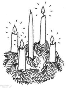 corona de navidad dibujo scaled