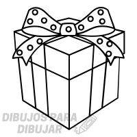 dibujo regalo cumpleaños