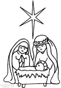 dibujos del nacimiento de jesus para niños