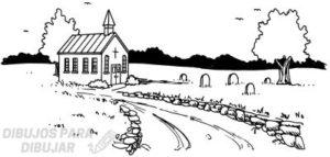 iglesia para dibujar