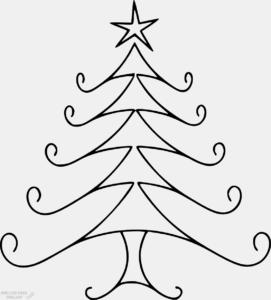 imagenes de arbol de navidad para colorear scaled