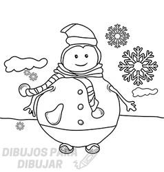 mono de nieve dibujo