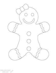 muñeco de jengibre navideño