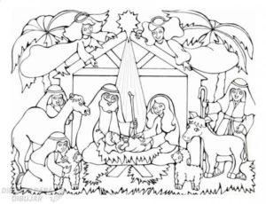 nacimiento de jesus dibujo