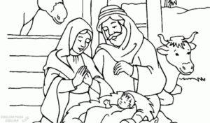nacimiento de jesus para colorear