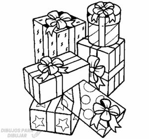 regalos de navidad para colorear