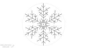 vector copo de nieve