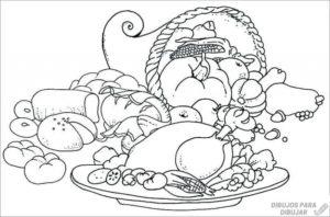 imagenes de comida para colorear