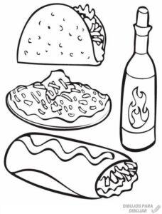 alimentos saludables dibujos