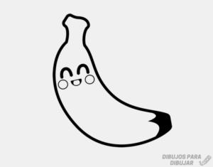 banana en dibujo