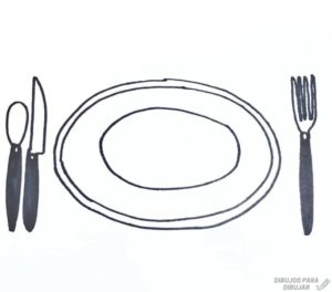 como dibujar platos
