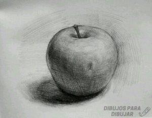 como dibujar una manzana realista