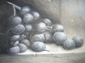 como dibujar una uva
