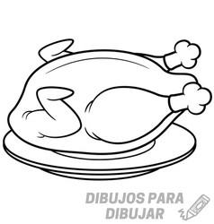 dibujo de carne de pollo