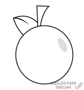 dibujo de naranja para pintar