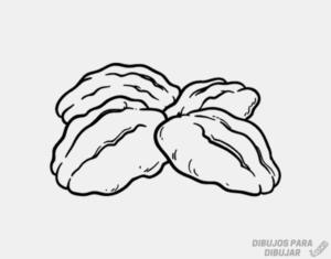 dibujos de frutos secos