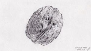 dibujos para colorear de frutos secos 1