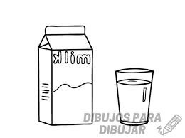 dibujos para colorear de leche