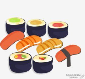 fotos de rollos de sushi