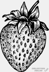 fresa dibujo para colorear