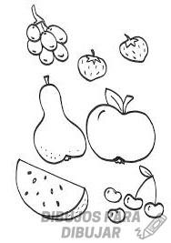 frutas dibujos