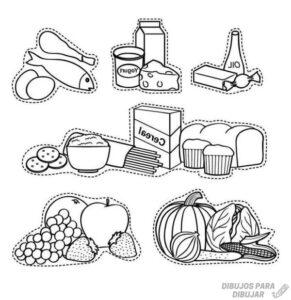los alimentos para colorear