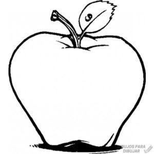 manzana para dibujar
