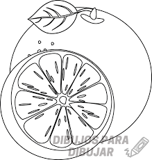 naranja para dibujar