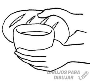 pan y vino dibujo 1