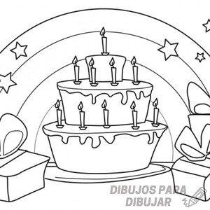 pastel de cumpleaños dibujo