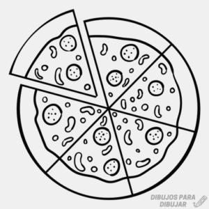 pizza para dibujar