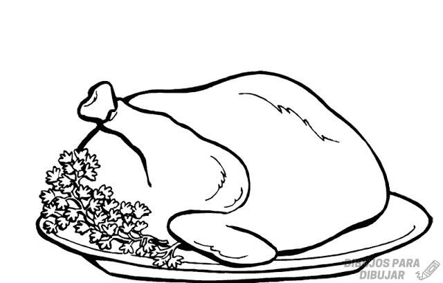 pollo rostizado dibujo