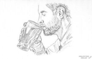 tarro de cerveza dibujo