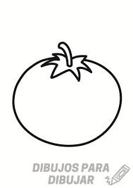 tomate para colorear infantil