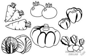 verduras animadas para colorear