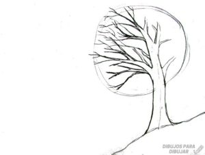 como dibujar un arbol a lapiz