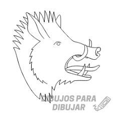 Dibujos De Jabalíes 190 Para Dibujar