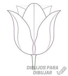 cuadros pintados con tulipanes