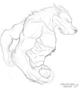dibujos a lapiz de hombres lobos