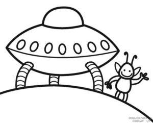 dibujos de aliens