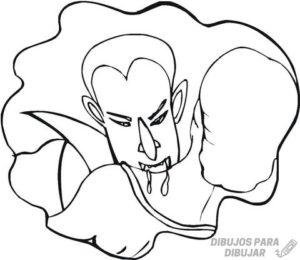 dibujos para colorear de chica vampiro