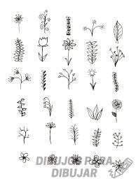 flores dibujos faciles