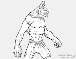 hombre lobo caricatura
