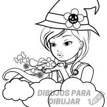 imagenes de brujas para colorear