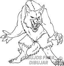 imagenes de hombres lobos para dibujar