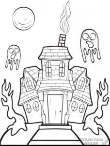 la casa embrujada dibujos animados
