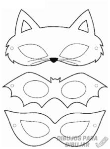 mascaras de animales para niños
